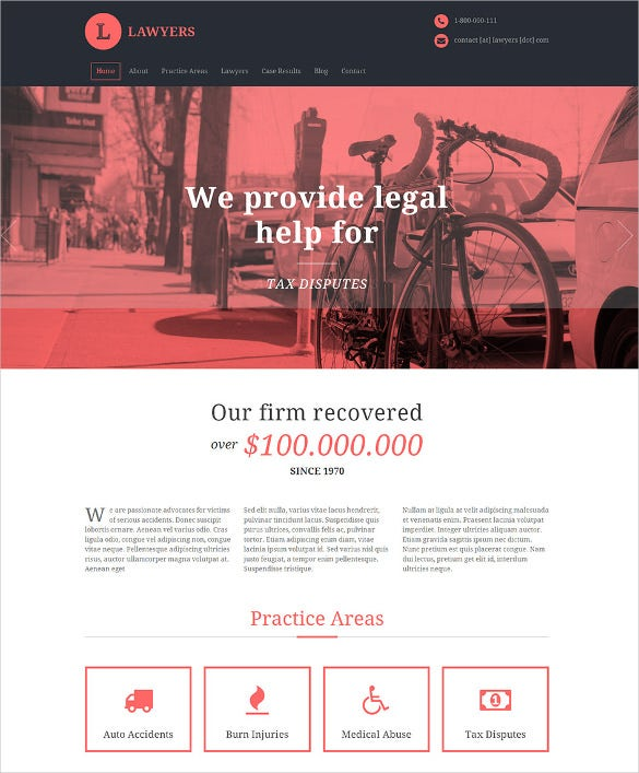 elegant lawyers wordpress website theme