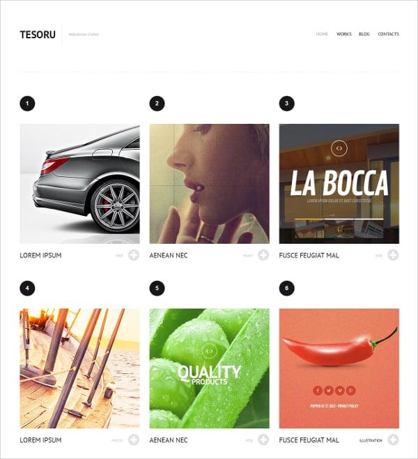 Grid Design WordPress Website Theme $75
