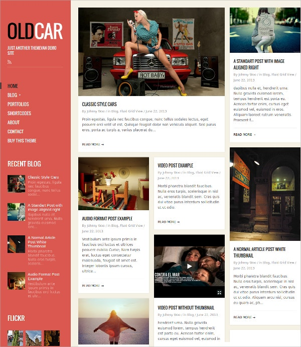 Responsive Blog & Grid WordPress Website Theme $44