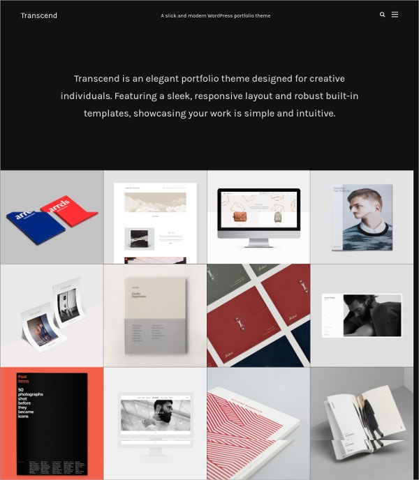 Modern Portfolio Grid Website Theme $48