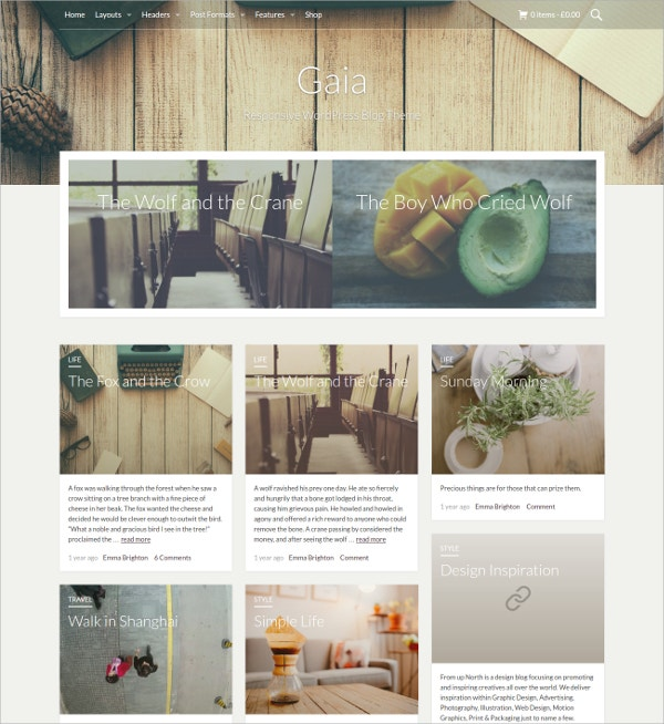 Simple Grid WordPress Blog Website Theme $49