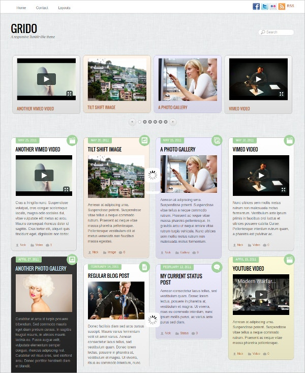 Stylish Grid WordPress Website Theme