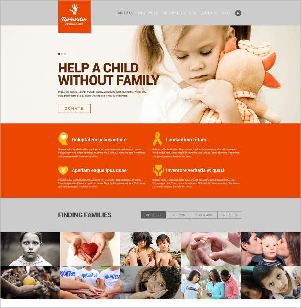 Premium Charity Website Template $69