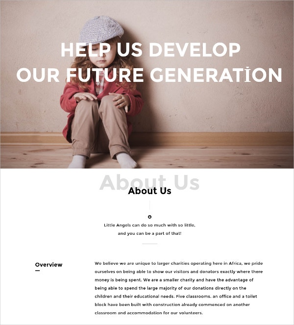 Nonprofit Charity WordPress Website Theme $44
