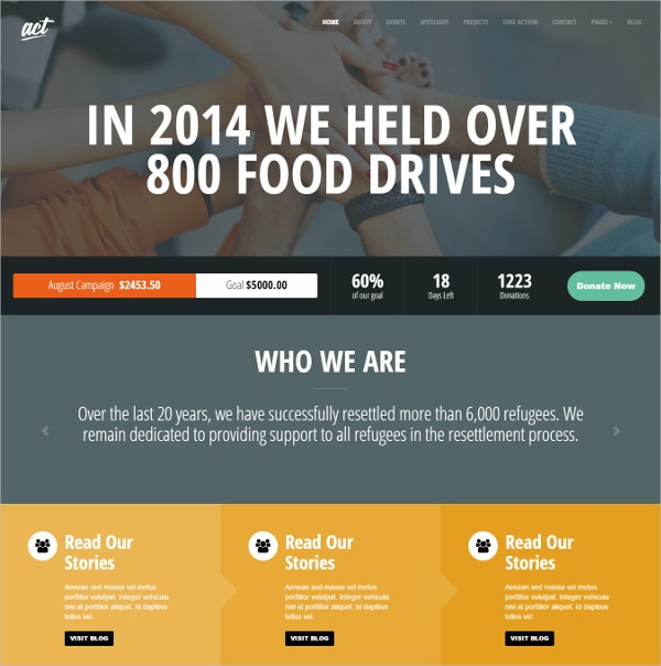 Multipurpose Nonprofit Website Theme $44