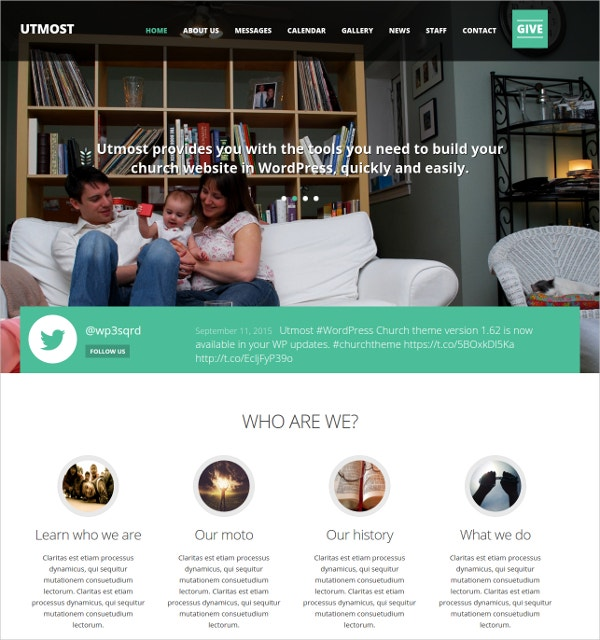 Church Non Profit Charity WordPress Website Theme $49