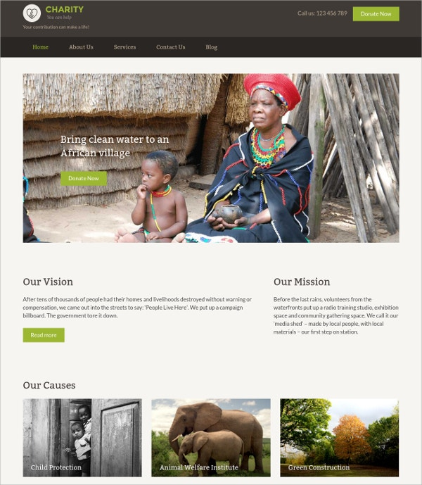 Creative Charity Website Theme