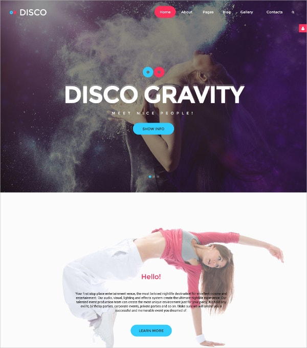 Disco Joomla Portfolio Website Template $75