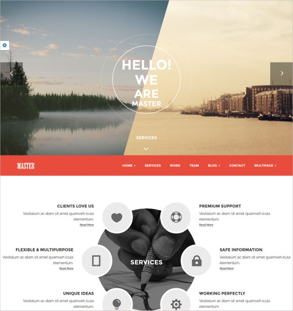 Onepage Portfolio Website Theme $44