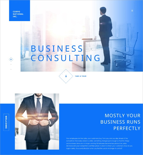 Business Consulting Website Template $69
