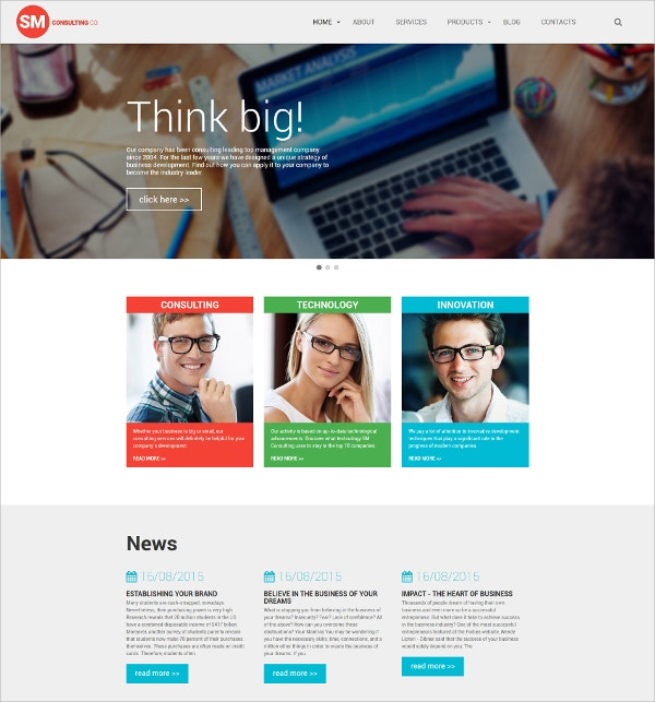 Innovative Technology Consulting Website Template $75