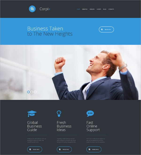 Consulting Responsive Website Template $199