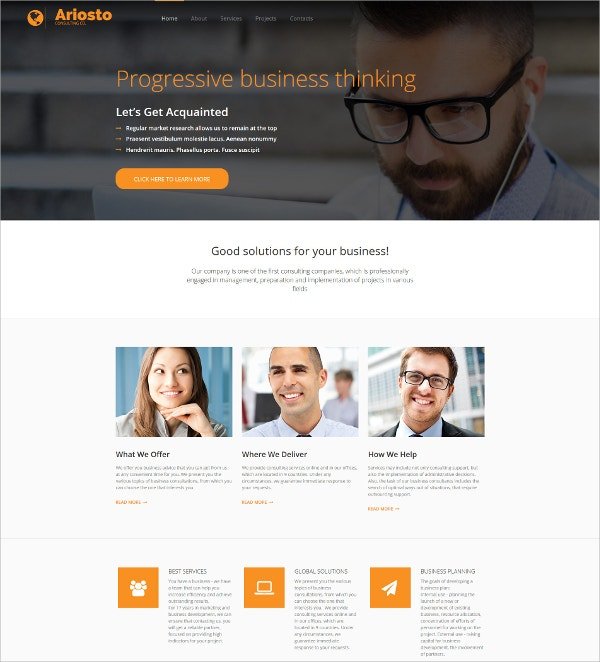 23 consulting website themes templates free premium templates progressive business consulting website template 199 friedricerecipe