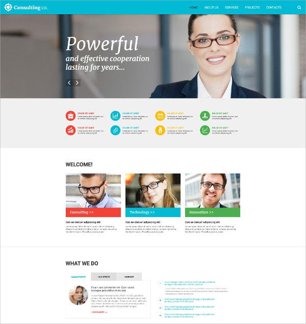 Powerful Consulting Website Template $69