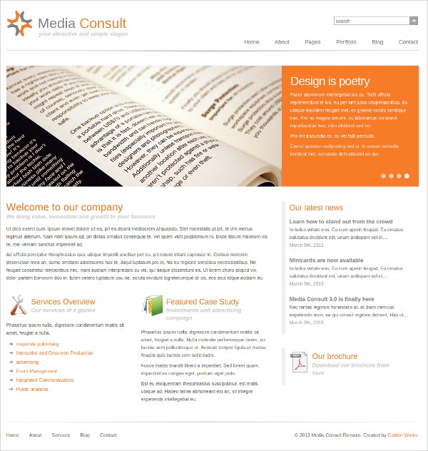 Media Consultancy WP Website Theme $39