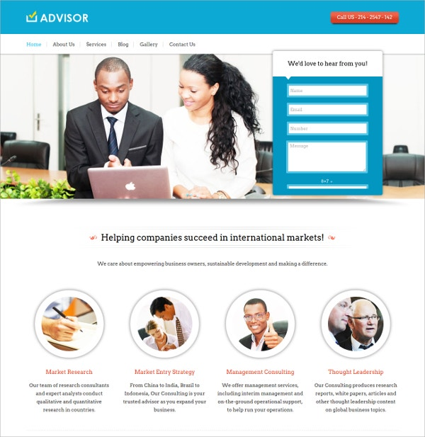 Consulting Agencies, Marketing Firms WordPress Website Theme $79