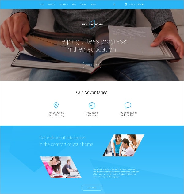 Teacher Education Drupal Website Template $75