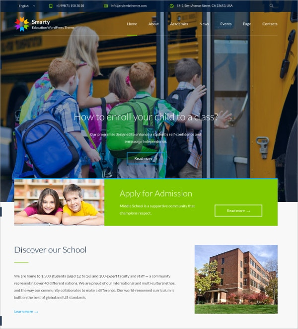 University Teacher WordPress Website Theme $59