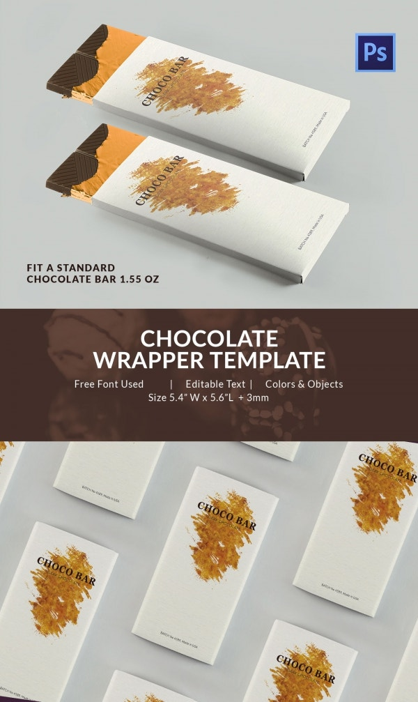 Chocolate Box Packaging Template