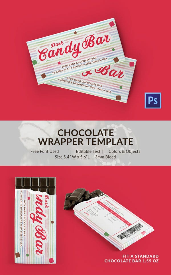 Candy Chocolate Packaging Template