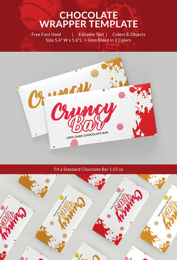 Crunchy Chocolate Packaging Template