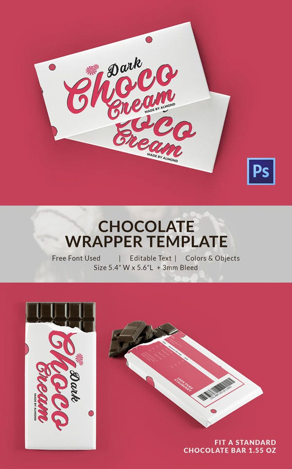 Cream Chocolate Packaging Template