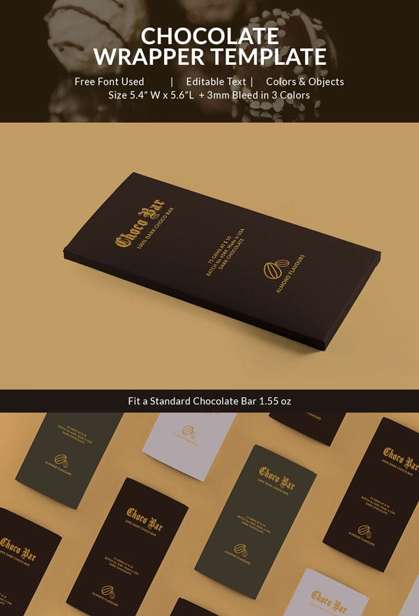 Easy Editable Chocolate Packaging Template