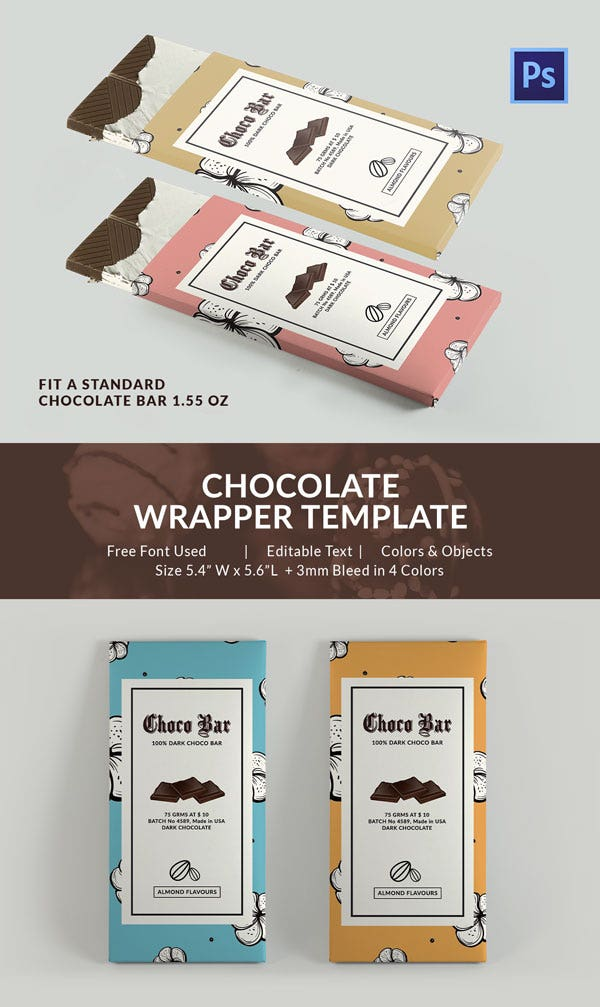 Customize Chocolate Packaging Template