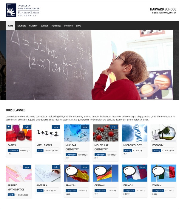 Portfolio WordPress Website School Teacher Theme $69