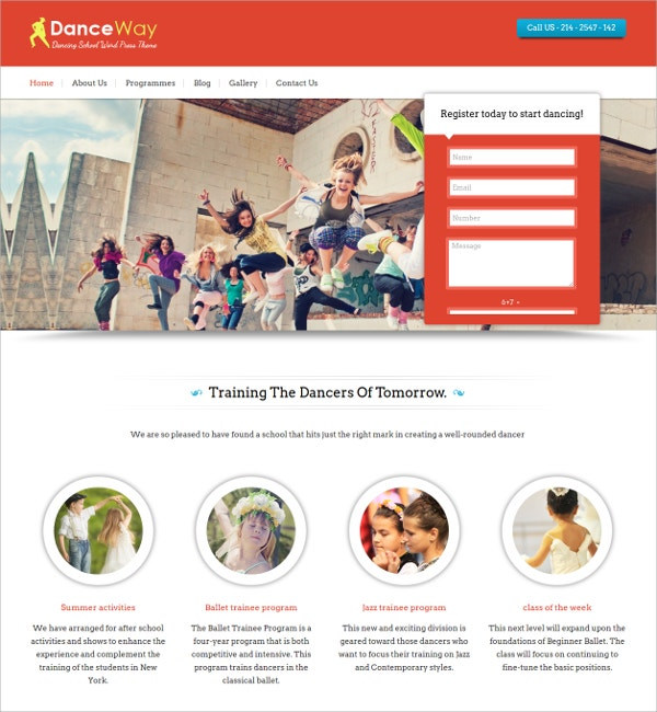 Personal Dance Teacher WP Website Theme $79