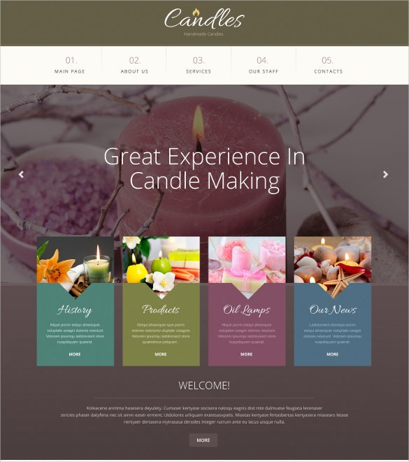 gifts responsive website template