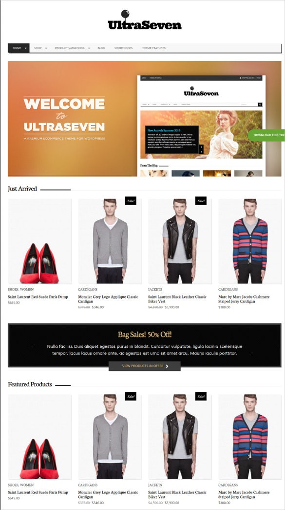 fashion responsive html website template