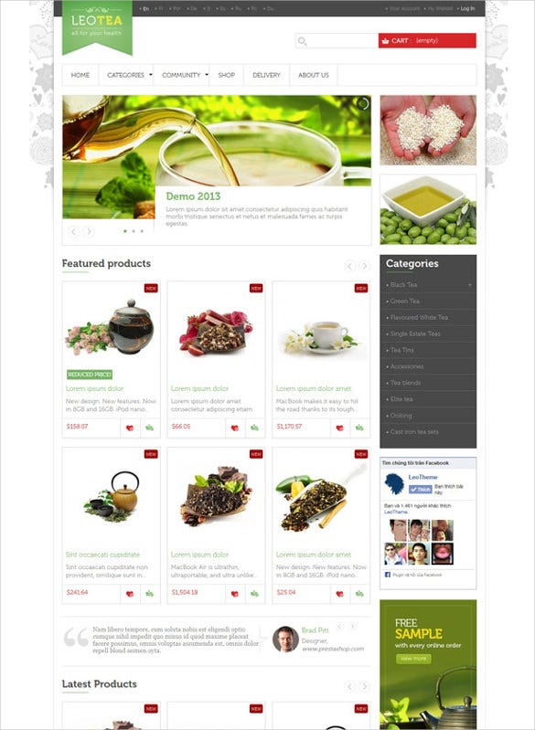responsive prestashop html website theme