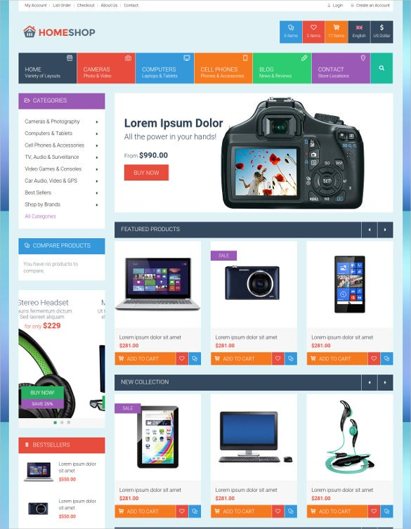 retail html5 css3 website template