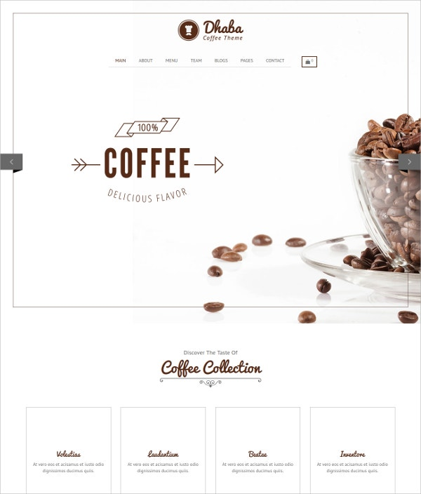 Restaurant, Coffee & Bakery Shop WP Website Theme $59
