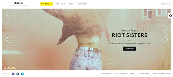 fluxus portfolio theme for photographers