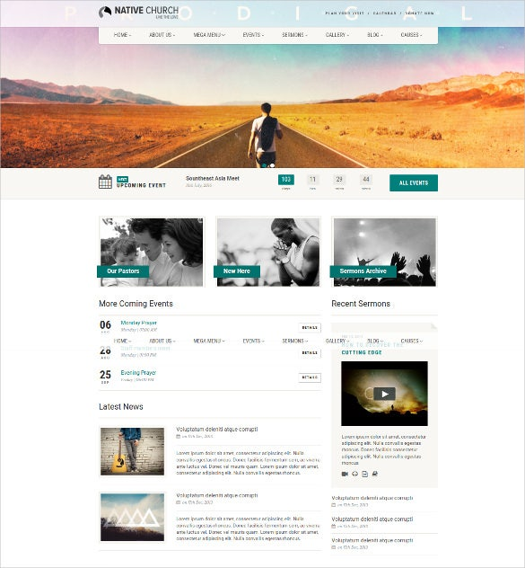 Responsive Church Html5 Website Template Free Demo