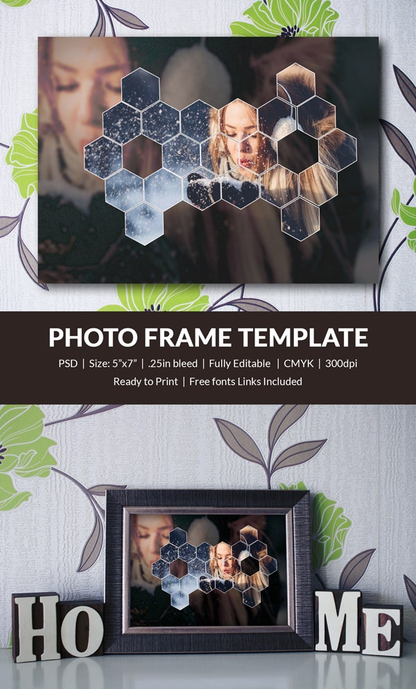 Personalized Photo Frame Template