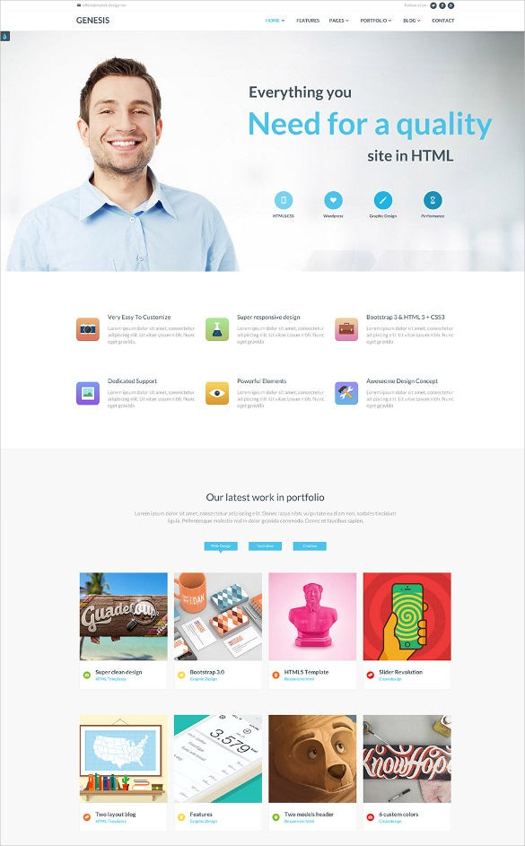 40 responsive html5 website themes templates free premium business responsive html5 website template cheaphphosting Gallery