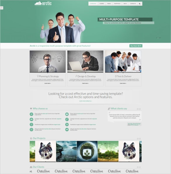 creative responsive html5 website template