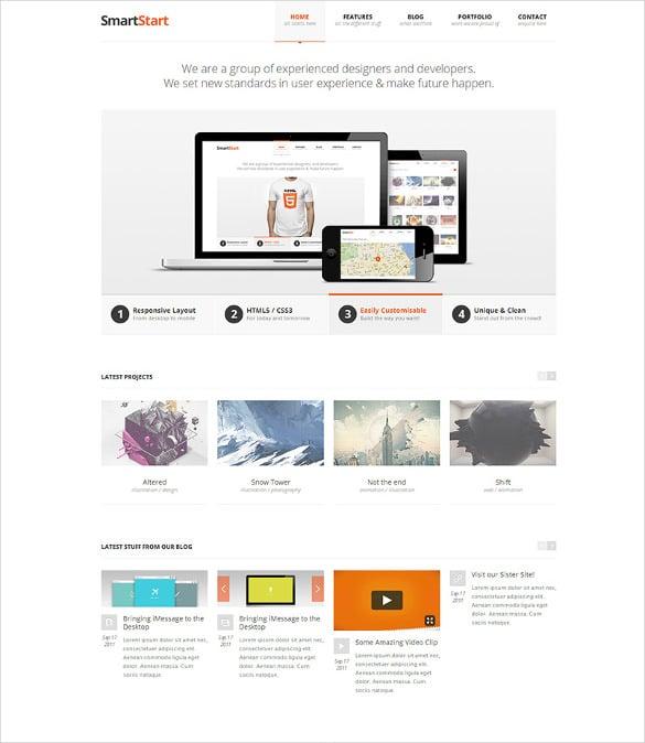 smart start responsive html5 template