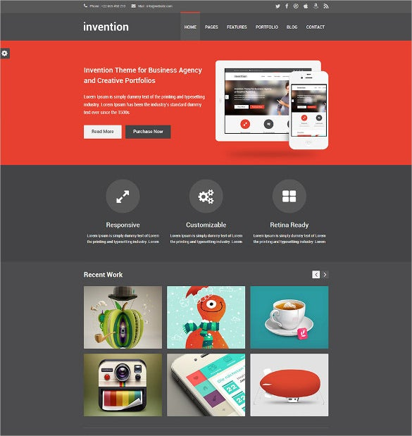 responsive multi page html5 website template