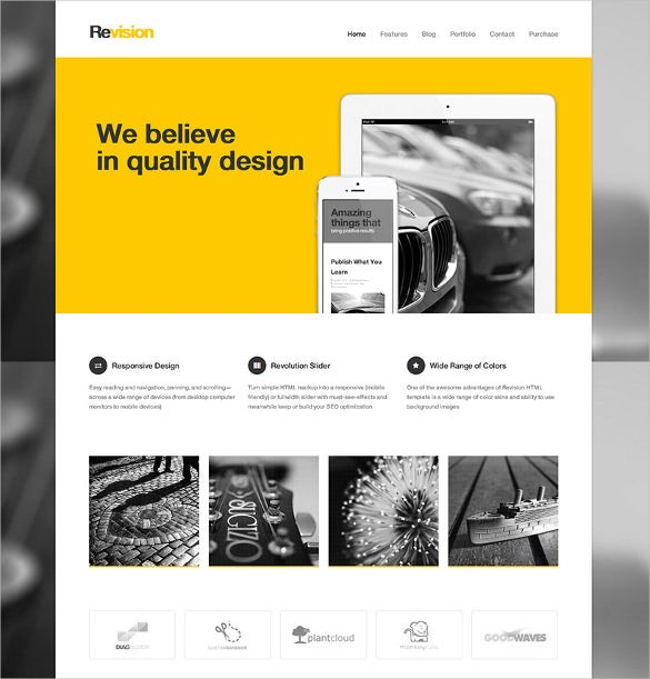 amazing responsive html5 website template