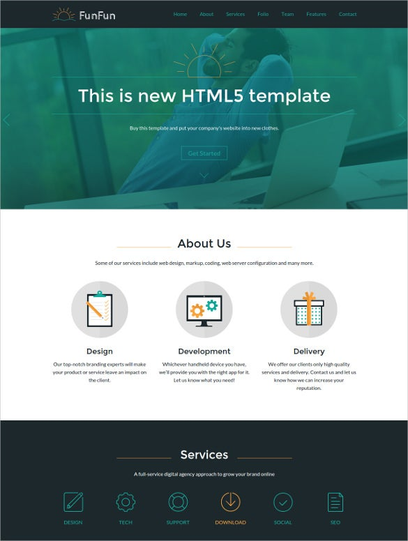new responsive html5 website template