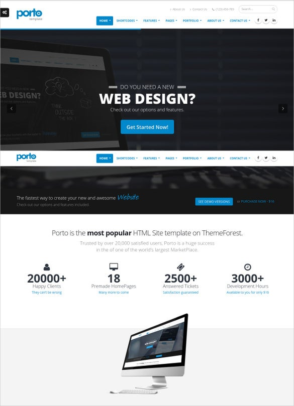 45 best premium dreamweaver website templates free premium responsive web design html5 website template 16 pronofoot35fo Gallery