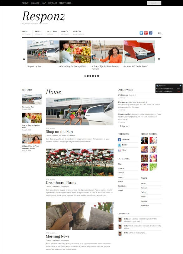 responsive news html5 website theme