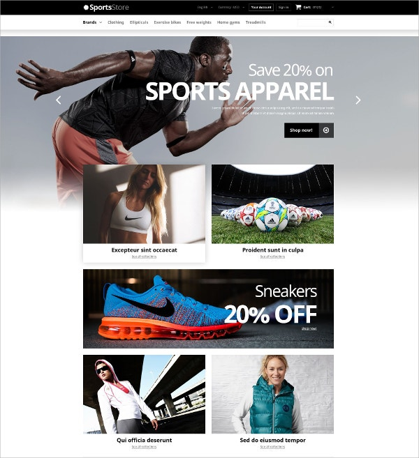 Sports Clothes Store PrestaShop Website Theme $139