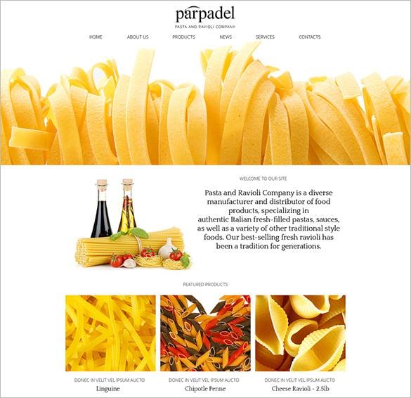 pasta paradise joomla template1
