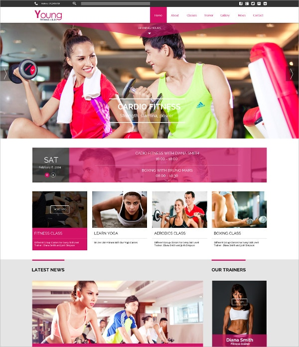 Responsive Fitness Joomla Website Template $48