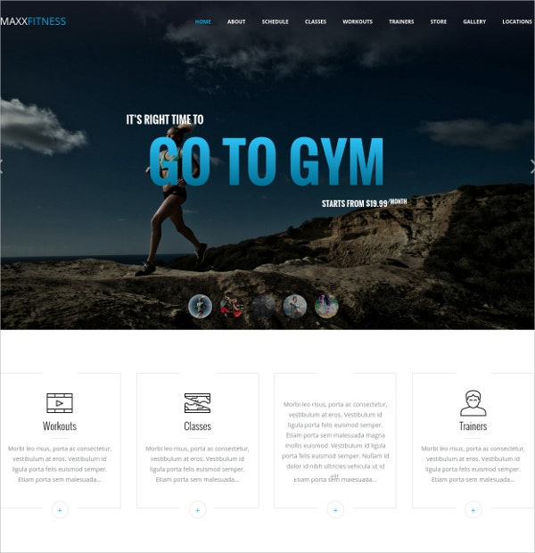 Professional Fitness Responsive Joomla Website Template $48
